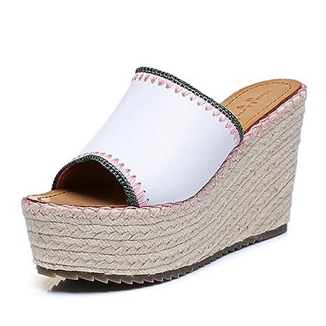 la vendita di scarpe gamma completa di articoli stile alla moda Sandali, spessi con pantofole / sandali con tacco a zeppa ...