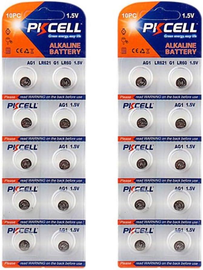 0/% Mercure G1 LR621 LR60 SR621W 164 2x 5x 10x Pile Bouton AG1 1,5V Alkaline