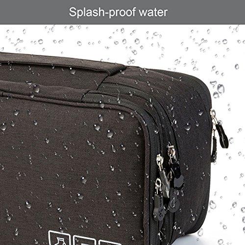 MODARANI Portable Bra Underwear Organizer Travel Toiletry Bag Makeup Organizer Case Black by MODARANI (Image #4)