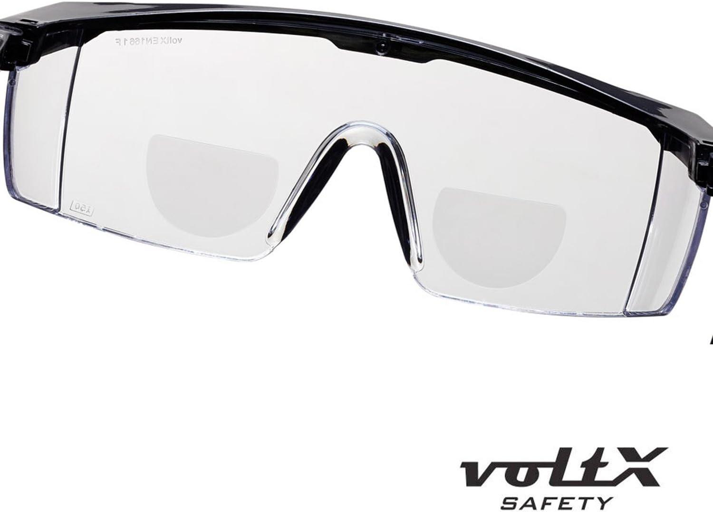 avec cordon dot/é dun arr/êtoir voltX Classique Lunettes de s/écurit/é bifocales Transparentes +1,00 Dioptrie anti condensation Lentille UV400