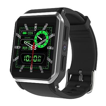 OOLIFENG Bluetooth Reloj Inteligente, Pantalla TFT de 1.54 Pulgadas, Android 5.1 OS, Pulsómetros Compatible con iOS Y Android,Silver: Amazon.es: Deportes y ...