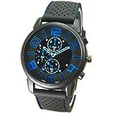 Men's Casual Rubber Silicone Strap Sports Quartz Wrist Watch Gift