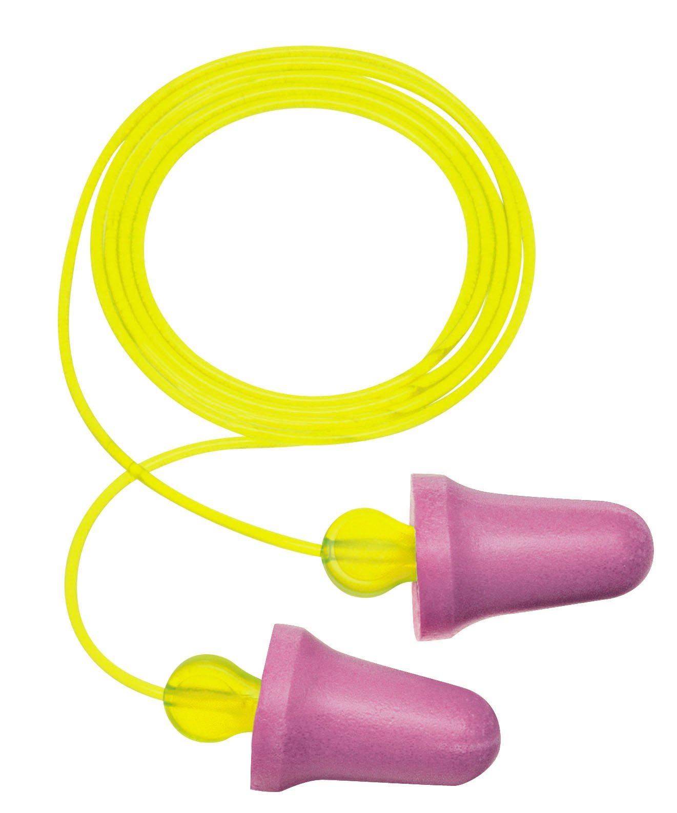 3M No-Touch Corded Push-to-Fit Earplugs, Hearing Conservation P2001 (Case of 400)