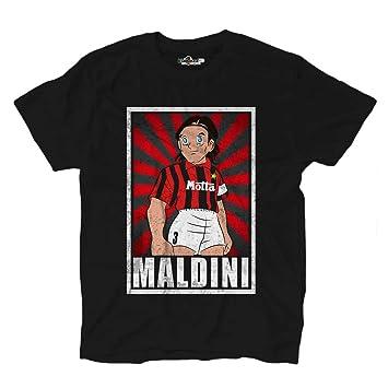 KiarenzaFD Camiseta Fútbol Vintage Maldini Milan Legend Captain ...