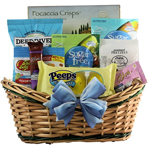 GreatArrivals Happy Easter Gourmet Sugar Free Gift Basket, 3 Pound