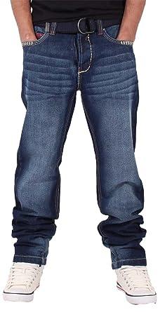 Downham SWB Hip Hop Star Men/'s Designer Denim Jeans Is Time Money Peviani