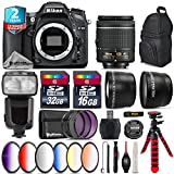 Holiday Saving Bundle for D7100 DSLR Camera + AF-P 18-55mm + Flash with LCD Display + 6PC Graduated Color Filter Set + 2yr Extended Warranty + 32GB Class 10 Memory Card - International Version