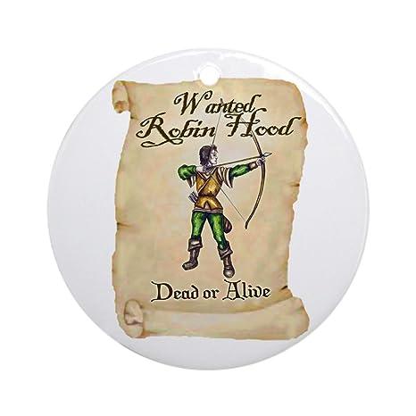 Amazon.com: CafePress – Wanted: Robin Hood Ornamento (Ronda ...