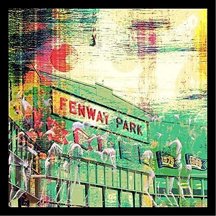 FRAMED Fenway Park by Brandi Fitzgerald 36x36 Art Print Poster Abstract Painting Baseball Famous MLB Stadium