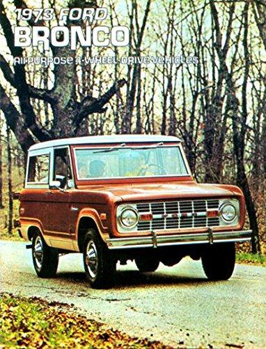 BEAUTIFUL 1973 FORD BRONCO DEALERSHIP SALES BROCHURE - ADVERTISEMENT All Purpose 4-Wheel Drive Vehicles 73 pdf