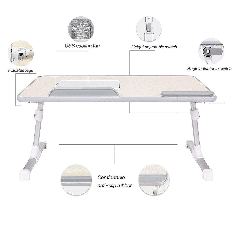 Laptop Bed Tray Table, Nearpow Adjustable Laptop