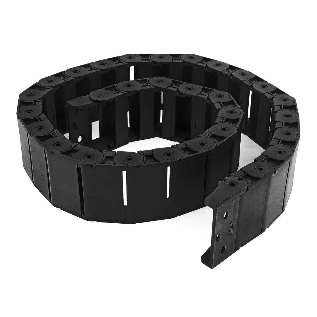 R Kabelschleppkette SODIAL 40.55 schwarz Kabel Draht Traeger Schleppkette Verschachtelte 18x50mm