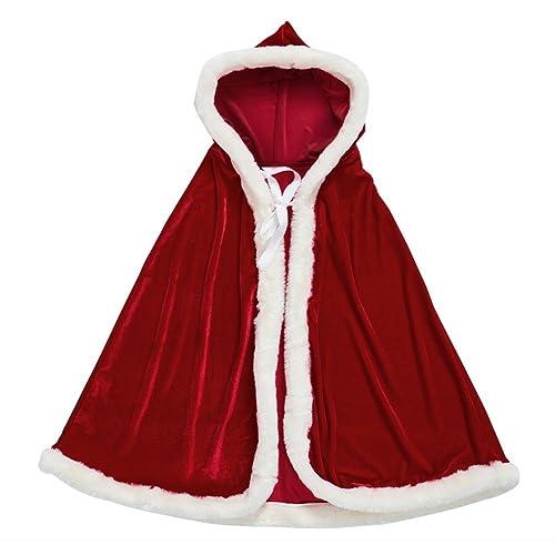 zuozee mrs santa claus costumesanta cape xmas costumesvelvet hooded cloak robe christmas - White Christmas Costumes