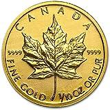 【メイプルリーフ 金貨】 メイプル 純金 99.99% 1/10 オンス カナダ王室造幣局発行 3.11gの純金コイン 保証書付き