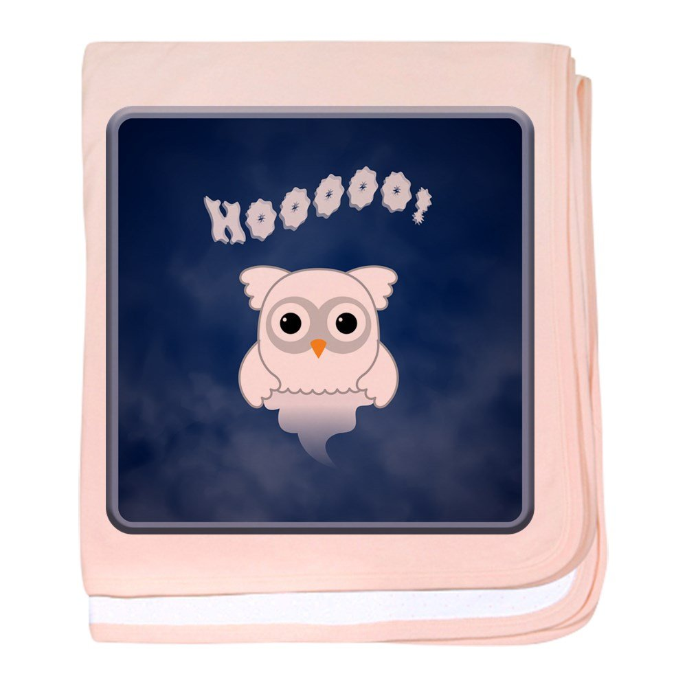 Truly Teague Baby Blanket Spooky Little Ghost Owl In The Mist - Petal Pink