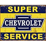 Desperate Enterprises Super Chevy Service Collectible Metal Sign, Model# 1355 , 17x13