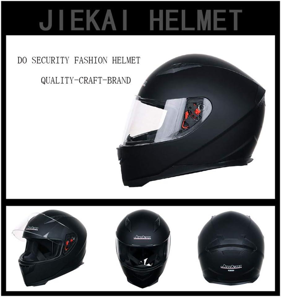 Casco da Motociclista per Quattro Stagioni,Satellite,M Sanqing Casco Moto da Strada Full Face con Sciarpa Invernale Rimovibile da Collo