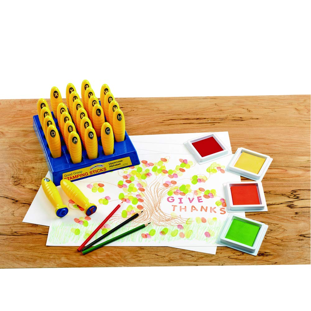 Colorations Good Grasp Stamping Sticks - Uppercase (Item # STAMPUP)