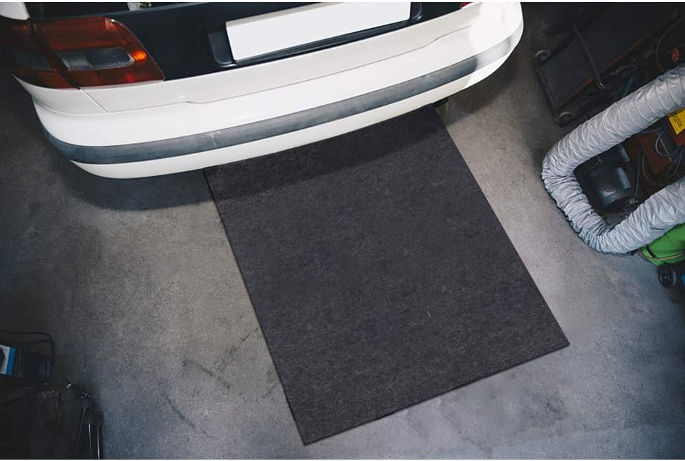Meitola Cleanable Oil Spill Mat Oil Absorbing pad Durable Protective Surface Can be Used for car Oil Change 48in/×48in