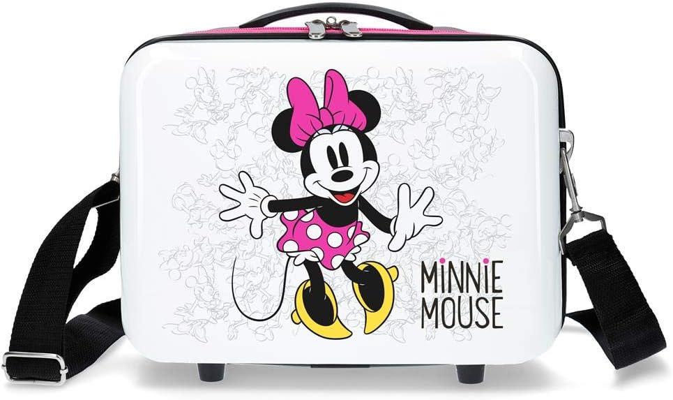 Disney Enjoy The Day Neceser de viaje, 29 cm, 9.14 litros, Blanco/Rosa