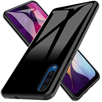 LK Funda para Samsung Galaxy A50, Carcasa Cubierta TPU Silicona Goma Suave Case Cover Play Fino Anti-Arañazos - Negro