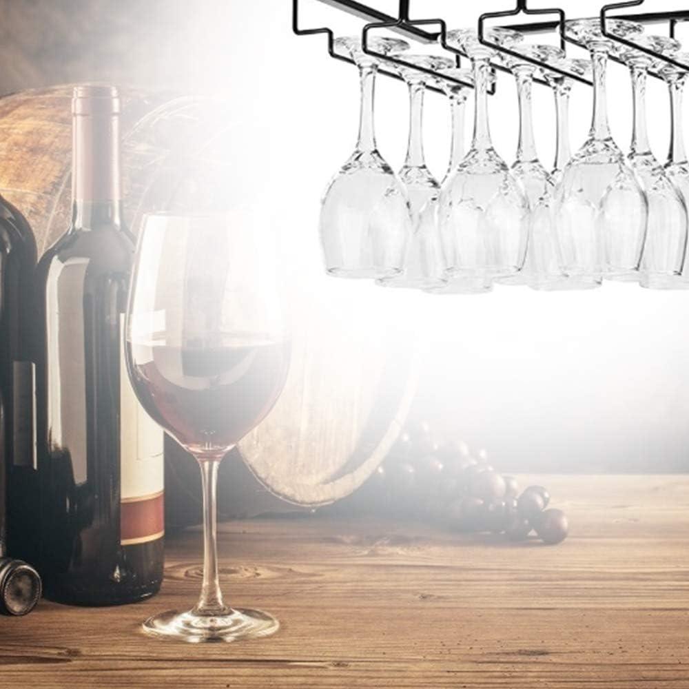 XQK Estante para Copas De Vino Soporte para Vasos Soporte Colgante para Vasos De Copas Suspensi/ón para 6 A 9 Copas De Vino Barra Cocina Exhibici/ón