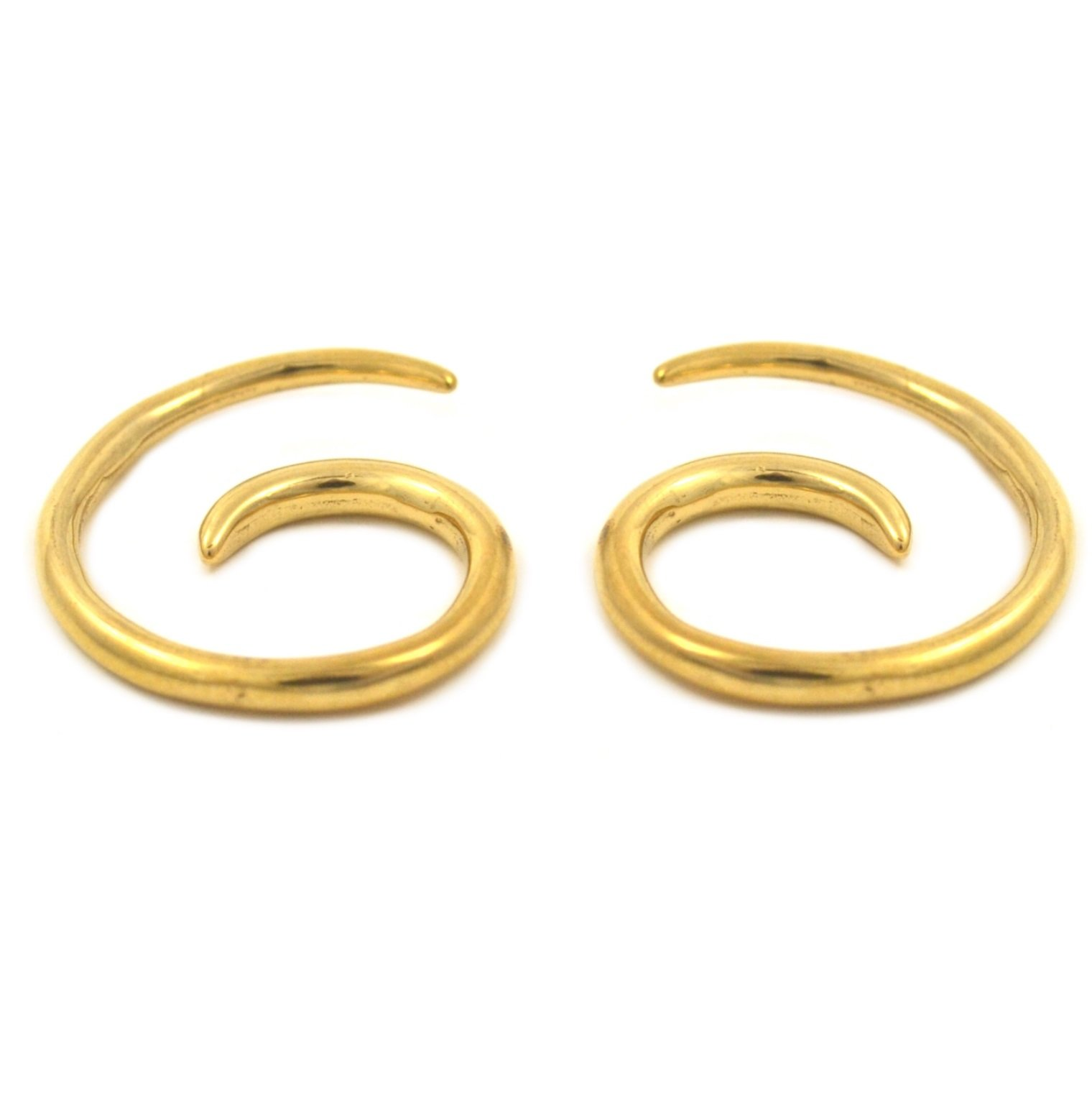 Pair (2) Gold Plated Spiral Tapers Ear Plugs Stretchers 6G 4mm