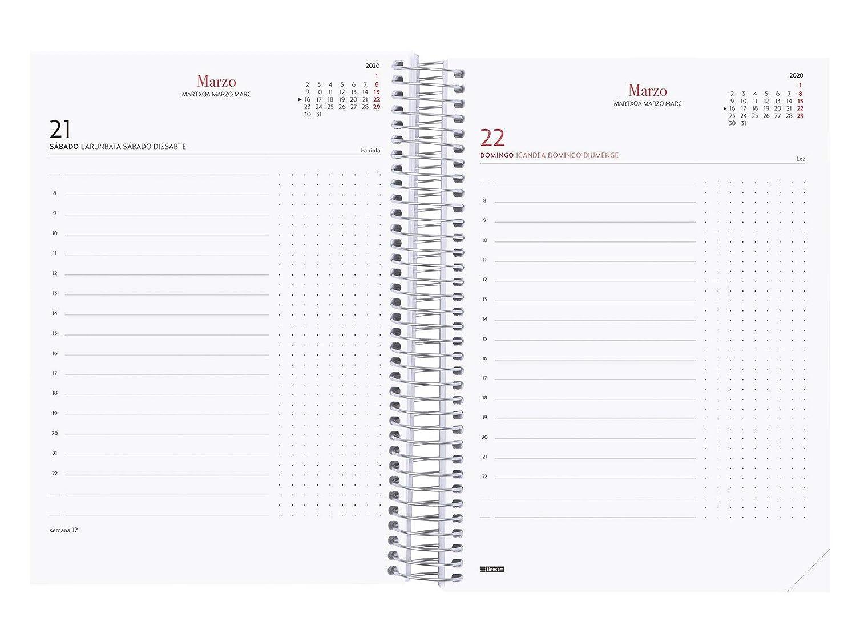 Amazon.com : Finocam - Agenda 2020 1 Day Page Spiral Design ...