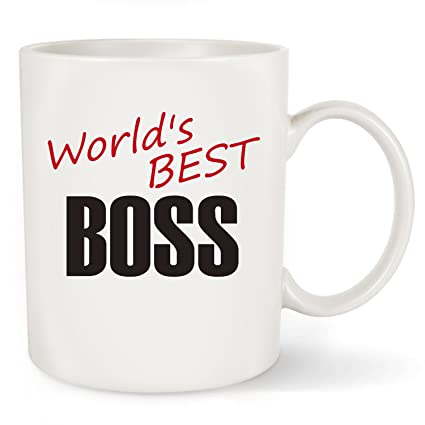 Amazon Worlds Best BOSS Funny Coffee Mug Tea Cup