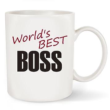 Amazon.com: World\'s Best BOSS Funny Coffee Mug Tea Cup - Unique ...