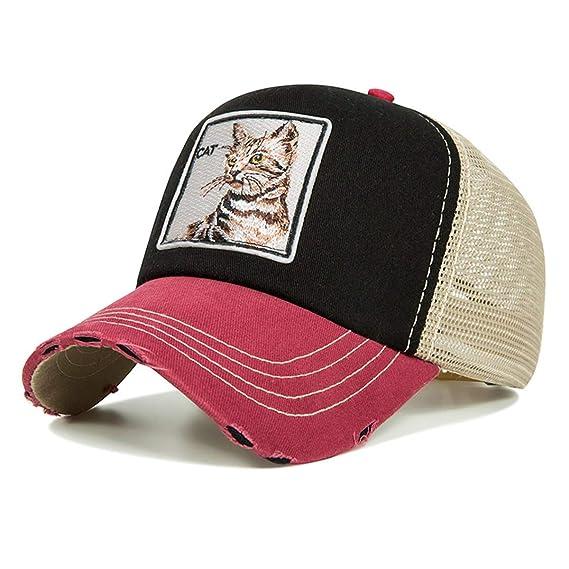 b92231cdb42f Evrfelan de moda de malla gorra de béisbol Unisex animales tapas las  mujeres y los hombres del casquillo del Snapback sombrero de papá verano  hueso ...