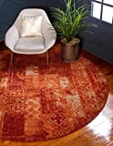 Unique Loom Autumn Collection Vintage Rustic Casual Warm Toned Terracotta Round Rug (3′ x 3′) Review