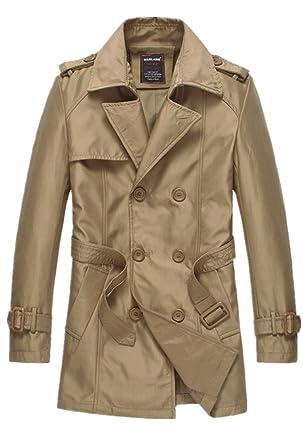 526160eadd52 Bestor Fashion Herren Slim Fit Mantel Trenchcoat mit Guertel  Amazon.de   Bekleidung