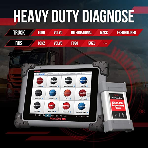 If you are a big shop owner or a professional technician, Autel MS908CV heavy duty truck scan tool  for you