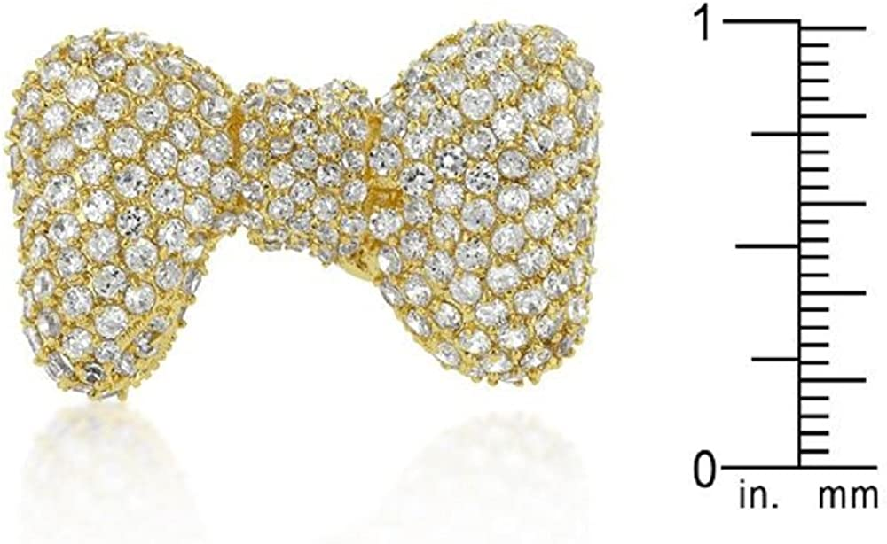 WildKlass Bow Tie Cubic Zirconia Ring