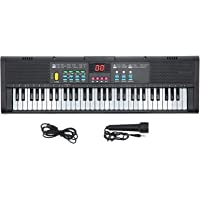 61 Keys Keyboard Piano, Electronic Digital Multifunctional Piano with Built-in Speaker Microphone, Portable Electronic…