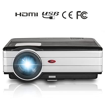 Video Projector HD Multimedia LCD 3500 Lumens Home Theater System Outdoor Movie Game Projectors Full HD 1080P Support HDMI VGA Audio Speakers Zoom ...