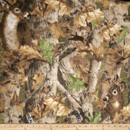 (Realtree 0343624 Deer Print Fleece Fabric by The Yard, Camo)