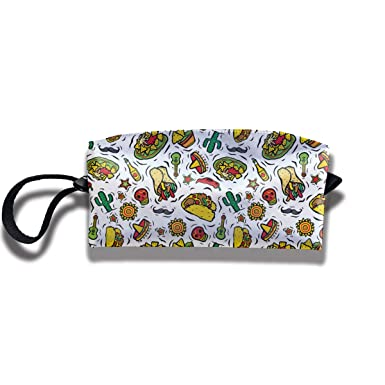 Amazon.com: Súper Mexicano Alimento Taco Viaje Maquillaje ...