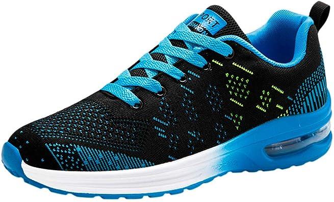 Zapatillas Deporte Hombre Calzado Seguridad Deportivo Ligero Aire Libre Y Deporte Transpirables Casual Lace Up, Zapatos Gimnasio Correr Sneakers Zapatos Running Hombre Outdoor: Amazon.es: Zapatos y complementos