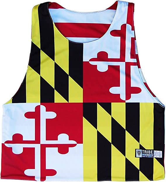 Navy /& Red XX-Large Texas Flag and American Flag Lacrosse Pinnie