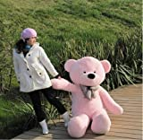 Click4Deal Big Soft Teddy Bear 4 Feet Long Pink (122 Cm) Best For Someone Special