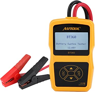 Black Analyzer for 12V Vehicle 24V Heavy Duty Trucks Acid-Resistant ABS Plastic Shell Support Multi-Languages Cuque Battery Tester 4 Inch TFT Colorful Display Car Battery Tester Yellow