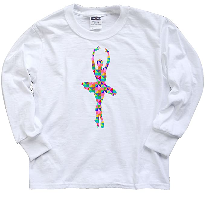 7c817e565df4b Amazon.com: inktastic - En Pointe Ballerina Youth Long Sleeve T ...