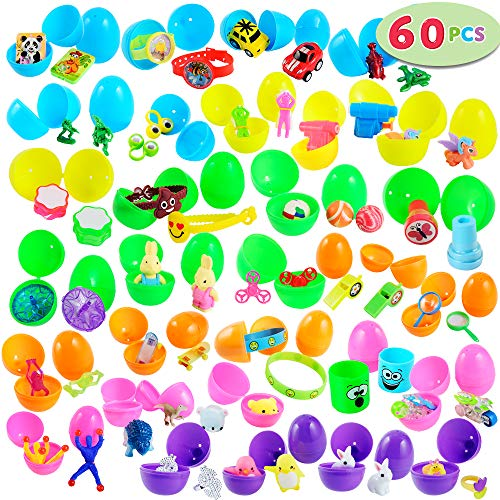 60 Toys Filled Easter Eggs, 2.5