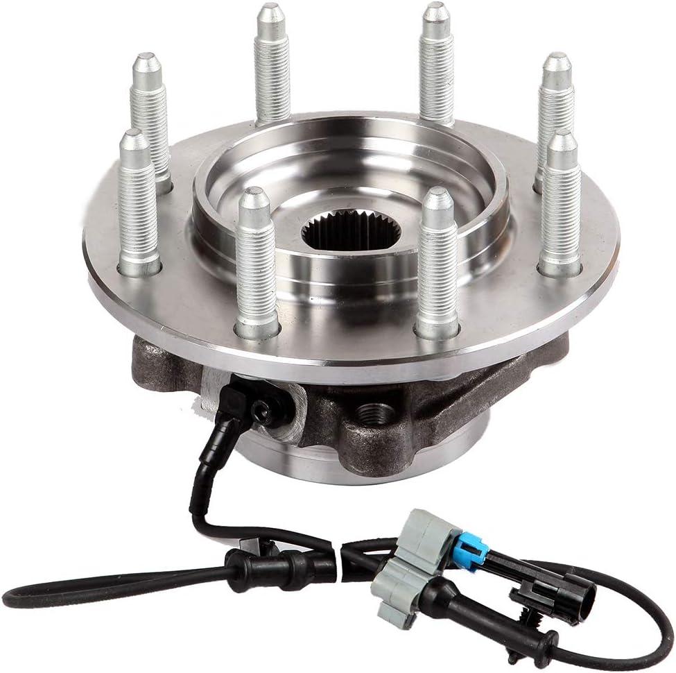 ROADFAR 515098 Wheel Bearing Hub Assembly fit for 2007-2009 for Chevrolet Silverado 2500 2007-2010 for GMC Sierra 2500 HD 2007-2010 for Chevrolet Suburban 2500 Front Wheel Bearing hubs