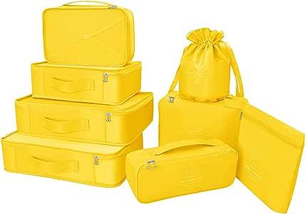 Organizador para Maletas Packing Cubes 8 Juegos/7 Colores ¨²ltimo ...