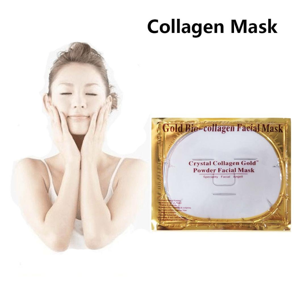 Facial Masks, TONSEE White Bio-Collagen Cream Hydrating Facial Mask Whitening Anti-Aging Repair Skin by TONSEE (Image #2)
