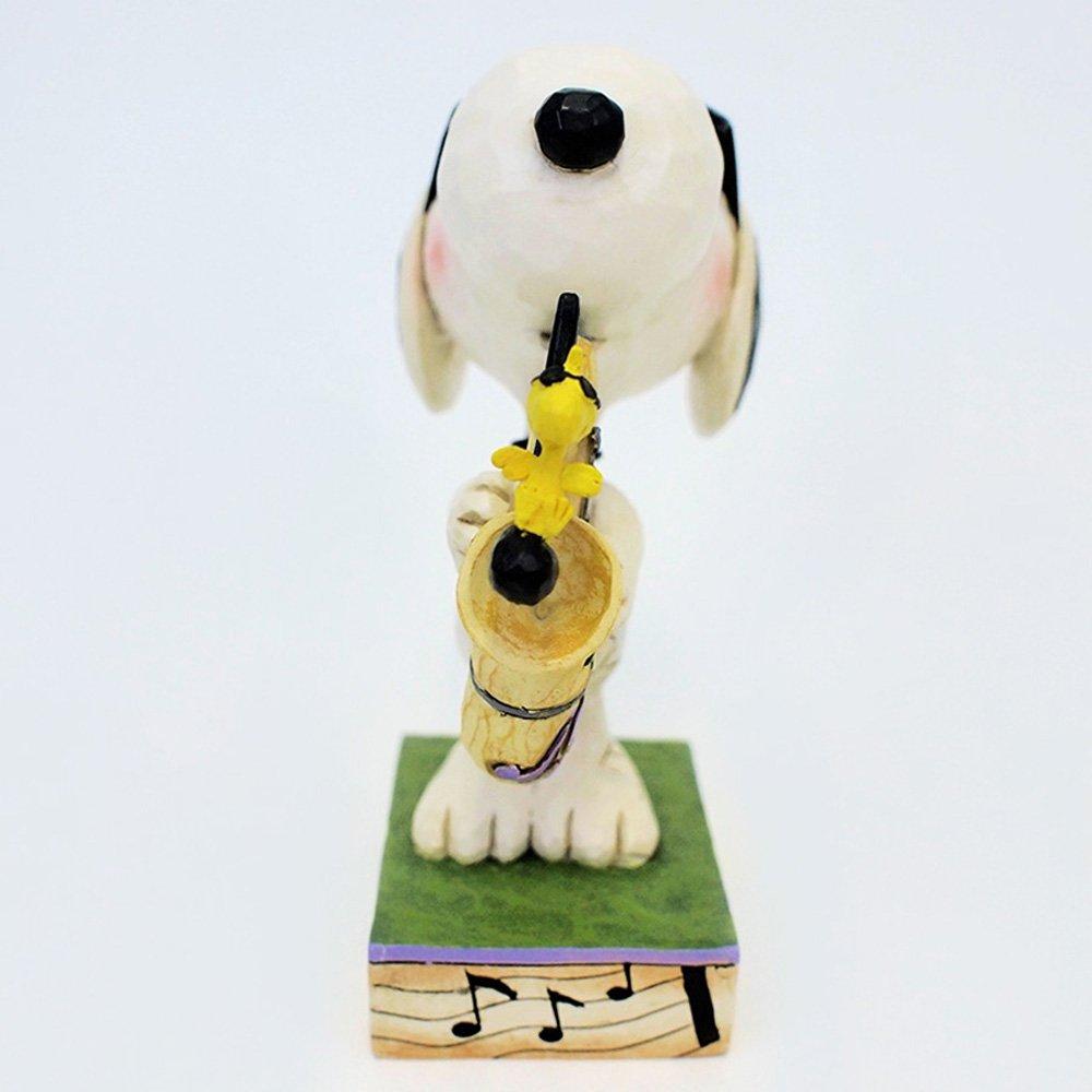 Enesco Jim Shore Peanuts The Blues Beagle Joe Cool Snoopy Saxophone Figurine 4049418