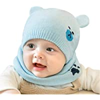 WIKEA Bufandas del Bebé, Winter Baby Hood Scarf Caps, Invierno Encantadores Niños Niñas Niños Warm Scarf Caps